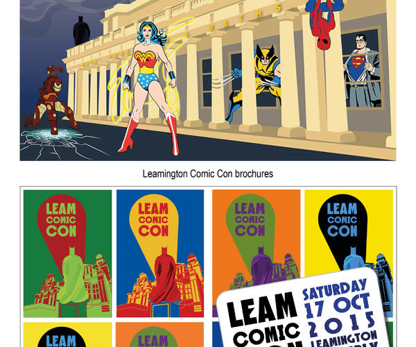 Leamington Comic Con, A5 program/brochure