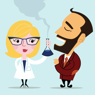 Decent proposal wedding invitation design michelle abrahall cartoon of scientist and mathematician wedding stopboris Choice Image